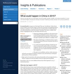 What could happen in China in 2015?