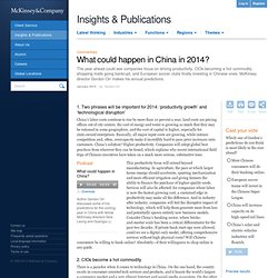What could happen in China in 2014?