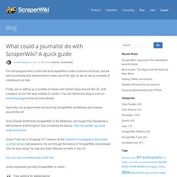 What could a journalist do with ScraperWiki? A quick guide