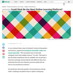 Could Slack Be the Next Online Learning Platform?