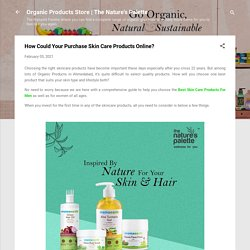 How Could Your Purchase Skin Care Products Online?