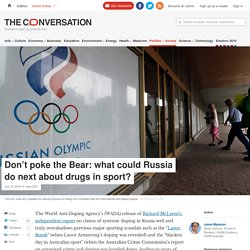 Don't poke the Bear: what could Russia do next about drugs in sport? theconversation