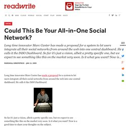 Could This Be Your All-in-One Social Network? - ReadWriteWeb