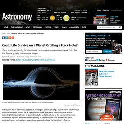 Could Life Survive on a Planet Orbiting a Black Hole?