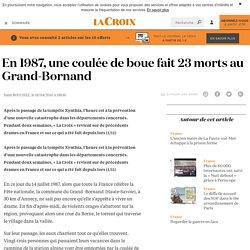 En 1987, une coulée de boue fait 23 morts au Grand-Bornand - La Croix