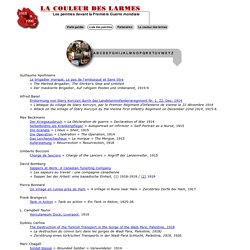 La Guerre 14-18 - La couleur des larmes - Liste des peintres