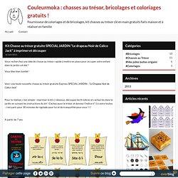 """Kit Chasse au trésor gratuite SPECIAL JARDIN """"Le drapeau Noir de Calico Jack"""" à imprimer et découper - Couleurmoka : chasses au trésor, bricolages et coloriages gratuits !"""