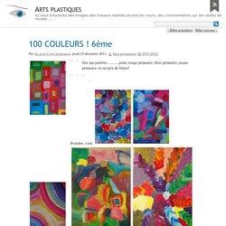 100 COULEURS ! 6ème - Arts plastiques