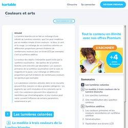 Couleurs et arts - 1ES - Cours Sciences