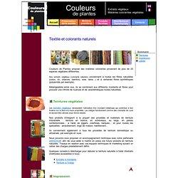Couleurs de plantes - colorants naturels - Teinture textile