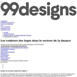 Les couleurs des logos de la finance