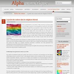 La gestion des couleurs dans les navigateurs Internet