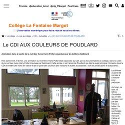 Le CDI AUX COULEURS DE POUDLARD - Collège La Fontaine Margot