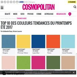 Couleurs printemps été Pantone : le top 10 des couleurs tendances