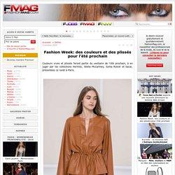 Fashion Week: des couleurs et des plissés pour l'été prochain - Actualité : Défilés (#579018)