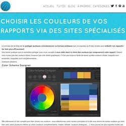 Choisir les couleurs de vos rapports via des sites spécialisés