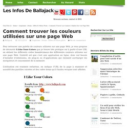 Comment trouver les couleurs utilisées sur une page Web