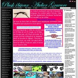 16) Comment réaliser un noeud coulissant, cordon bracelet breloques, collier noeud coulissant, www.plusk1bijoux.com