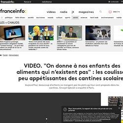 FRANCE 2 16/11/18 Cauchemar dans les cantines - Aujourd'hui, beaucoup d'enfants ne mangent pas les plats qui leur sont proposés dans les cantines. Envoyé Spécial a enquêté à Paris.