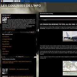 LE CRASH DU BOEING 747 D'EL AL EN 1992 : Retour sur un petit mensonge entre Amis