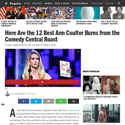 Best Ann Coulter Burns from Comedy Central Roast of Rob Lowe