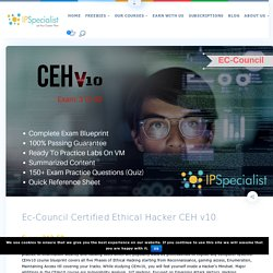 Ec-Council Certified Ethical Hacker CEH v10 - IPSpecialist
