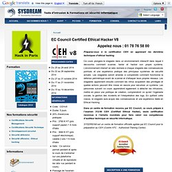 EC Council Certified Ethical Hacker V8 | Sysdream