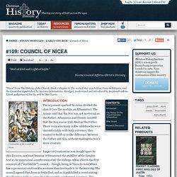 Council of Nicea: Christian History