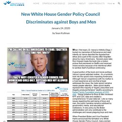 New White House Council Discriminates Against Boys and Men