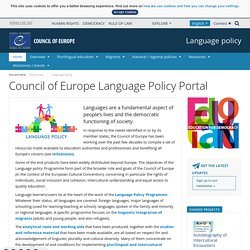 Council of Europe Language Policy Portal