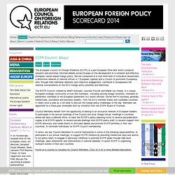 The European Council on Foreign Relations | ECFR's Board and Cou