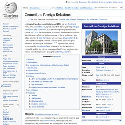 1921 Council on Foreign Relations