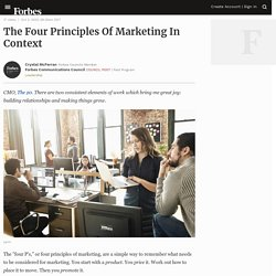 Council Post: The Four Principles Of Marketing In Context