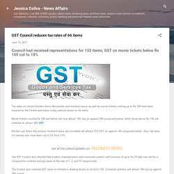 GST Council reduces tax rates of 66 items