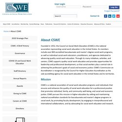 Council on Social Work Education (CSWE) - About CSWE