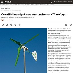 New York City Council bill would put more wind turbines on NYC rooftops