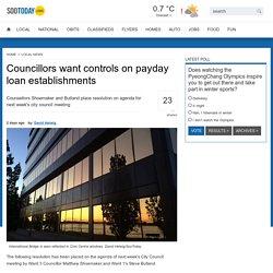Councillors want controls on payday loan establishments - SooToday.com