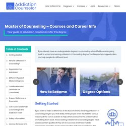 Online Master's Degrees in Counseling Programs & Accreditation - MS in Counseling