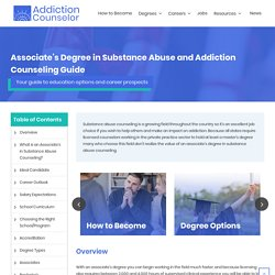 Online Substance Abuse Counseling Associates Degree - AS in Counseling