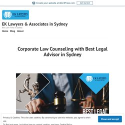 Corporate Law Counseling with Best Legal Advisor in Sydney