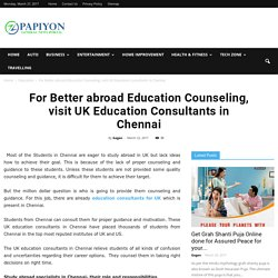 UK education consultants in Chennai