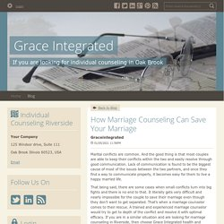 How Marriage Counseling Can Save Your Marriage