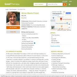 Anne Marie Frost MS, LPC, Mental Health Counseling in Springfield, Missouri, 65804