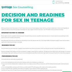Teenage Sex Counselling - Sex Common Problems in Relationships and Marriages