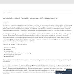 Masters in Education & Counselling Management-ITFT College Chandigarh