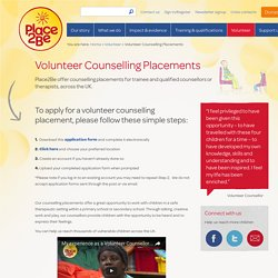Volunteer Counselling Placements