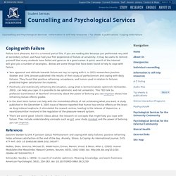 Coping with Failure : Counselling and Psychological Services