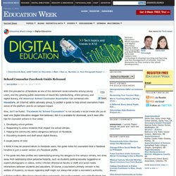 School Counselor Facebook Guide Released - Digital Education
