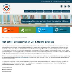 High School Counselor Email List & Mailing Database