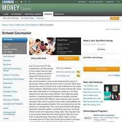School Counselor Job Overview